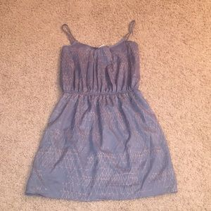 Dresses & Skirts - Blue and Tan Printed Dress Size Small